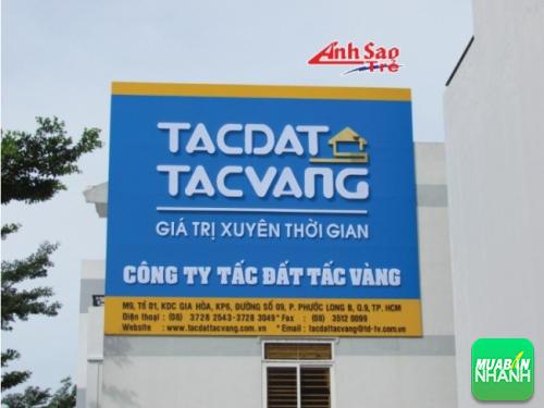 Bảng hiệu quảng cáo chất lượng cao cho Công ty Tấc đất Tấc vàng