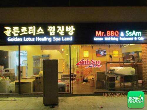 Bảng hiệu quảng cáo đèn Led đẹp đạt tính thẫm mỹ cao cho Golden Lotus Healing Spa Land Hàn Quốc